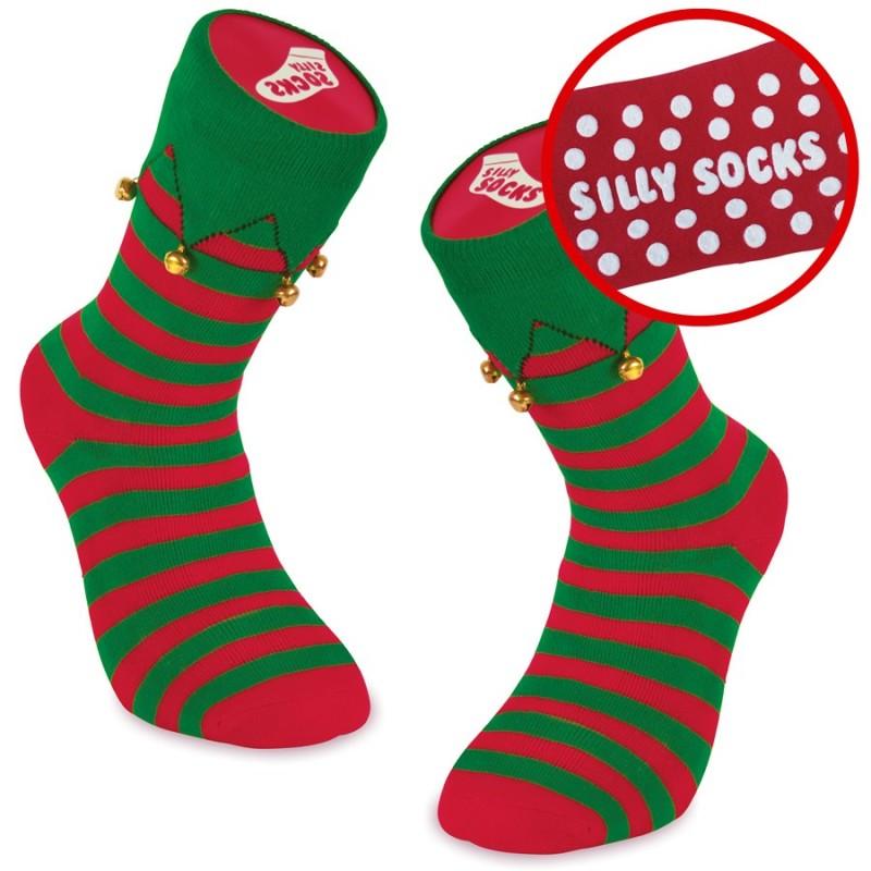 Calze antiscivolo da Elfo del Natale