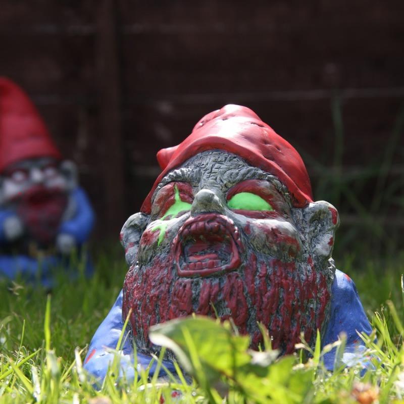 Nano da giardino zombie strisciante dottorgadget - Pino nano da giardino ...