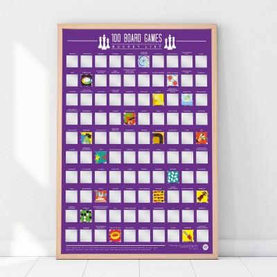 Poster 100 Giochi in scatola da giocare