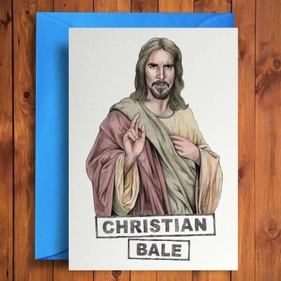 Biglietto di auguri Christian Bale
