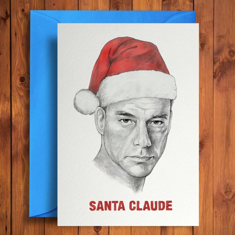 Biglietto di auguri Santa Claude