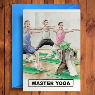 Biglietto di auguri Maestro Yoga