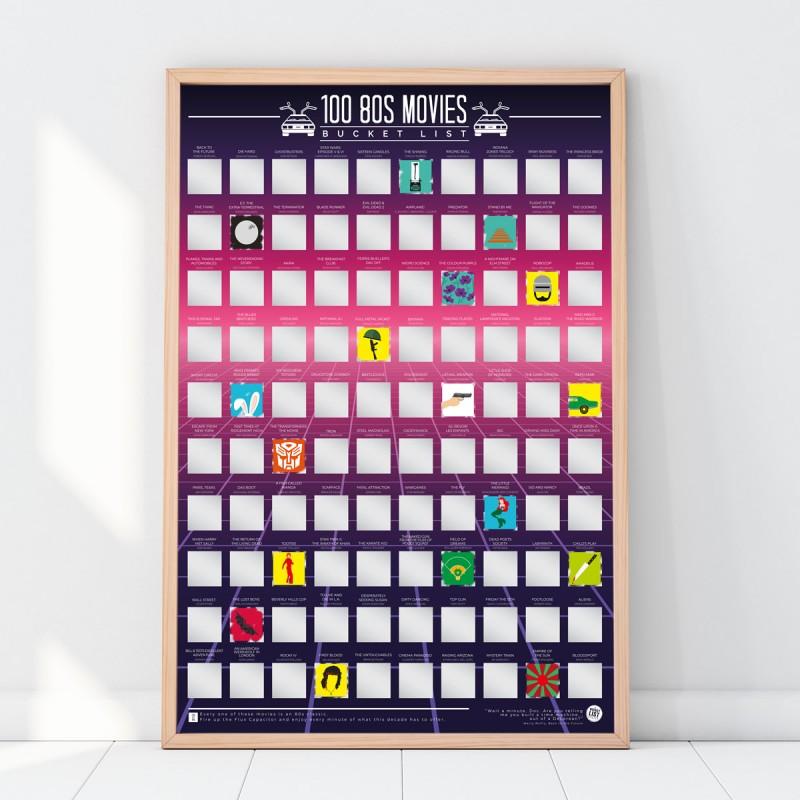Poster 100 film degli anni '80