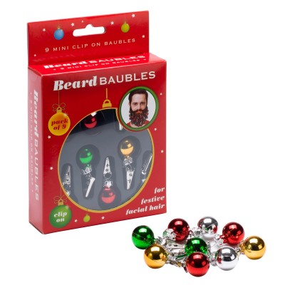 Palline di Natale da barba