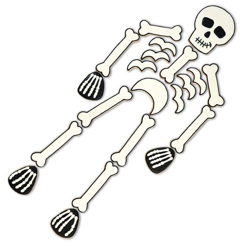 Set formine scheletro per halloween dottorgadget - Scheletro foglio da colorare ...