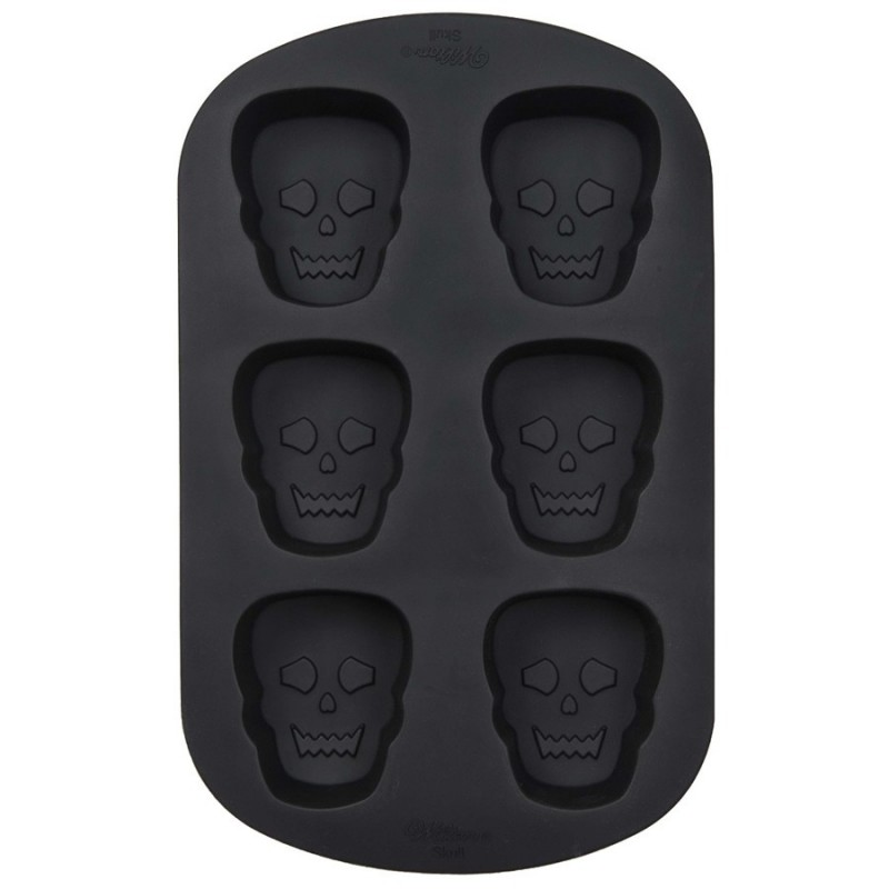 Stampo in silicone 6 teschi