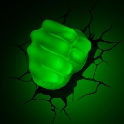 Luce da parete 3D Hulk