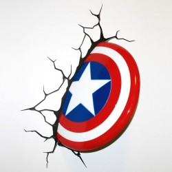 Luce da parete 3D Capitan America