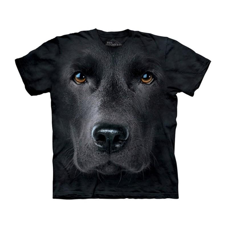Maglietta Big Face Labrador Nero - Bambino