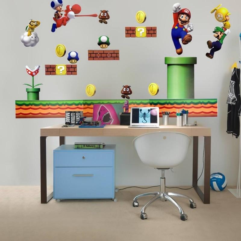 New Super Mario Wall Stickers