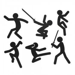 Action Stickers - Stickmen