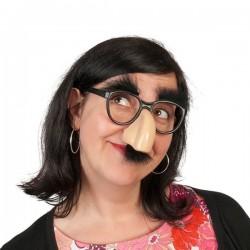 Set occhiali con naso e baffi finti
