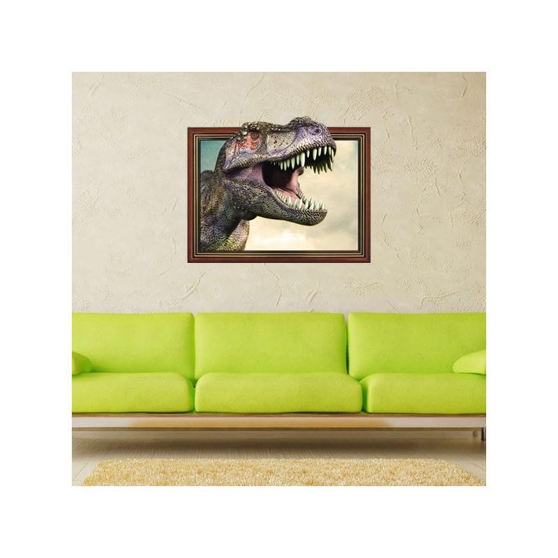 Adesivo da Muro 3D Dinosauro