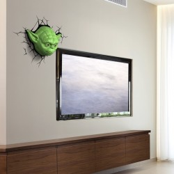Luce da parete 3D Yoda