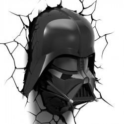 Luce da parete 3D Darth Vader