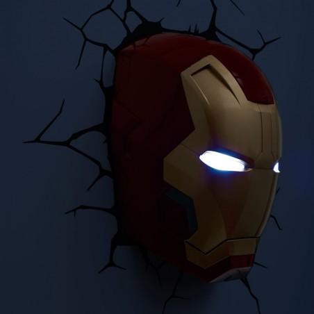 Luce da parete 3D Iron Man