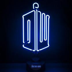 Luce al neon Doctor Who