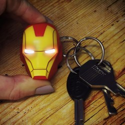Portachiavi LED di Iron Man