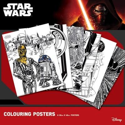 Poster da colorare Star Wars