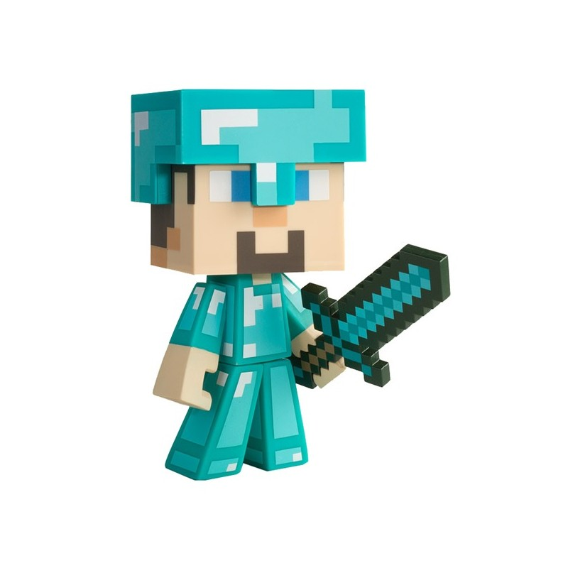 Action Figure Diamond Steve Minecraft