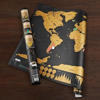 Mappa del mondo da grattare Deluxe