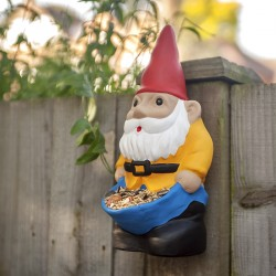 Nano da giardino mangiatoia