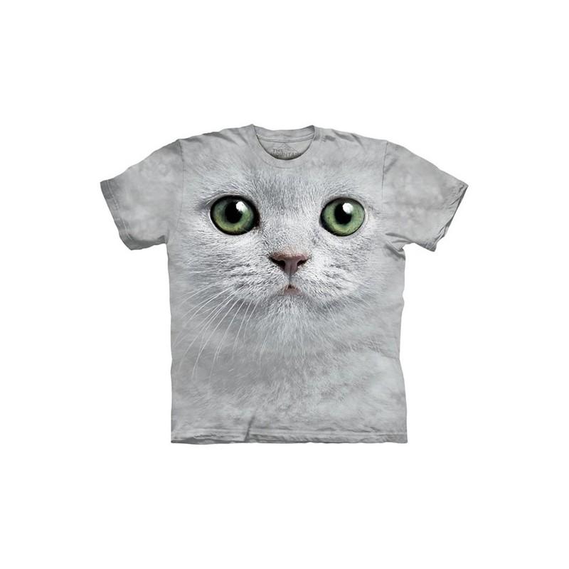 Maglietta Big Face Gatto Bianco - Bambino