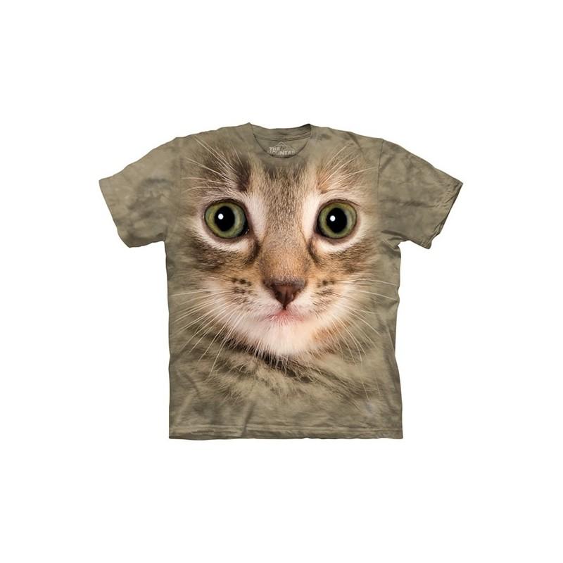 Maglietta Big Face gatto Beige - Bambino
