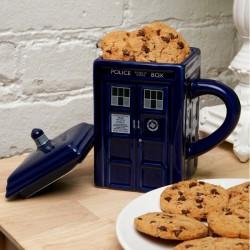 Mug Doctor Who TARDIS con coperchio