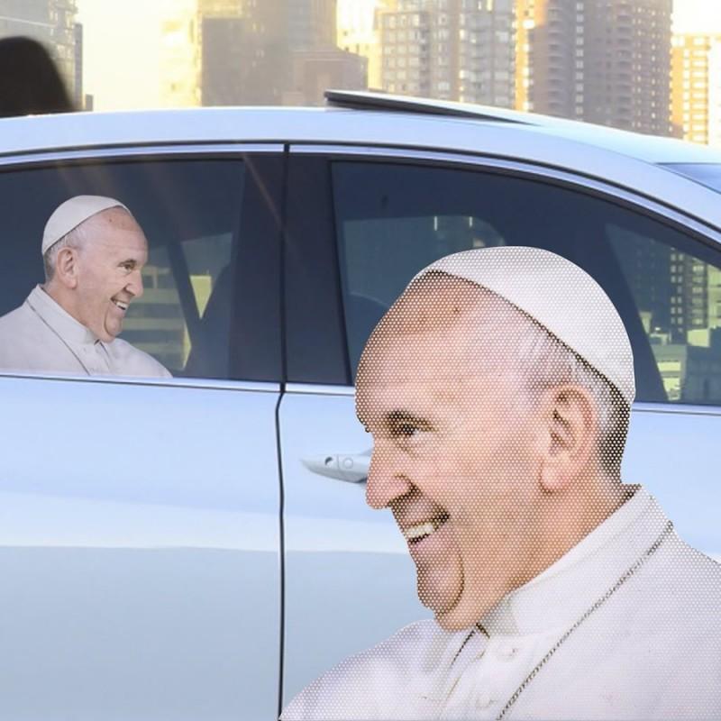 Adesivo da finestrino – Papa Francesco