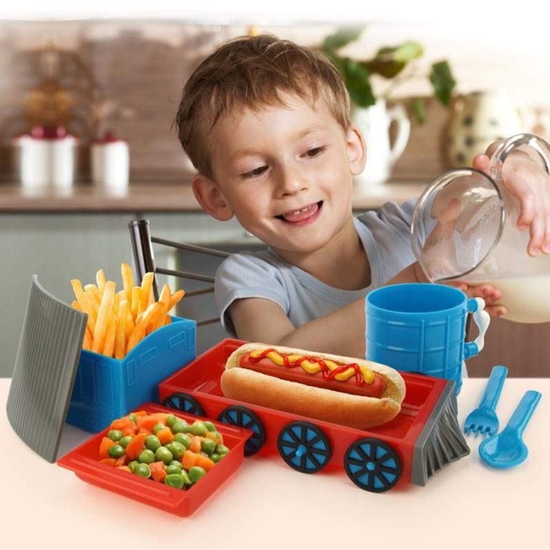 Set da tavola per bambini trenino - Tavola pitagorica per bambini ...