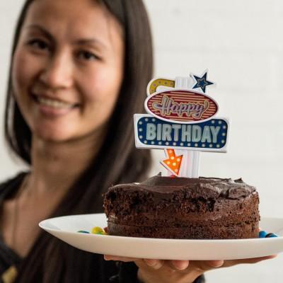 Insegna per torte di compleanno
