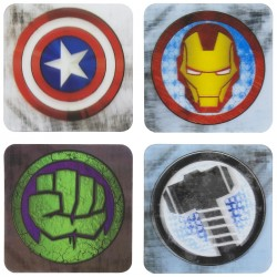 Sottobicchieri 3D Avengers
