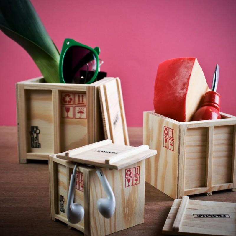 Container di legno portaoggetti