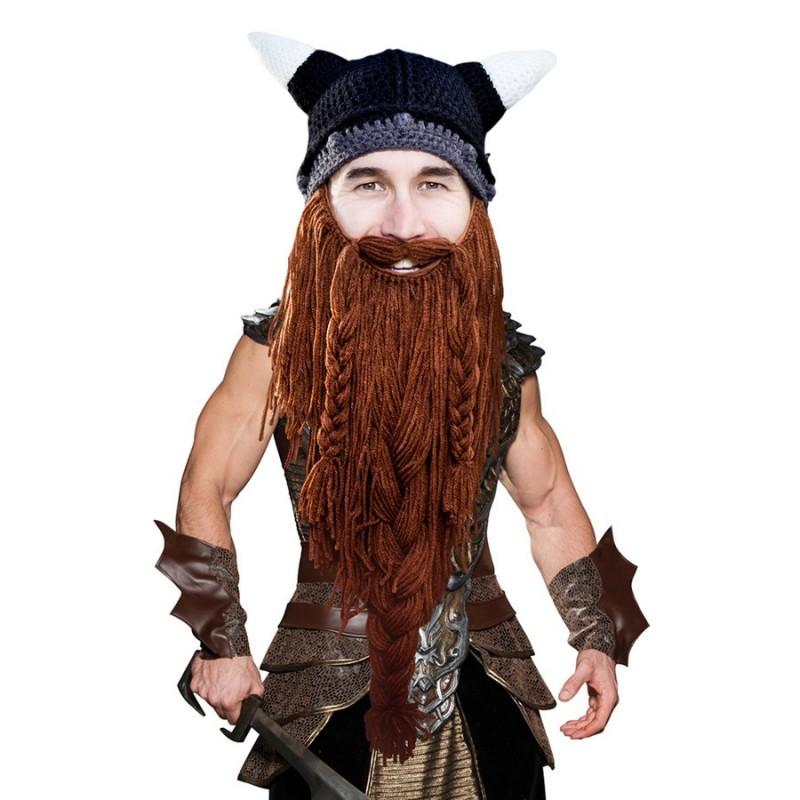 Cappello con barba lunga Vichingo