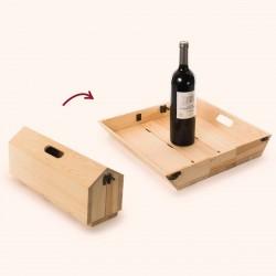 Porta vino e vassoio Rackpack