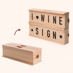 Porta vino Wine Sign Rackpack
