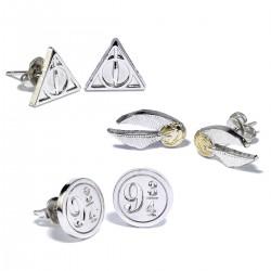 Tris di orecchini Harry Potter