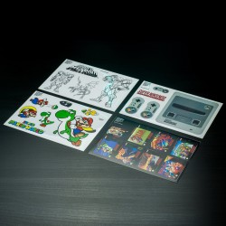 Set di adesivi SNES