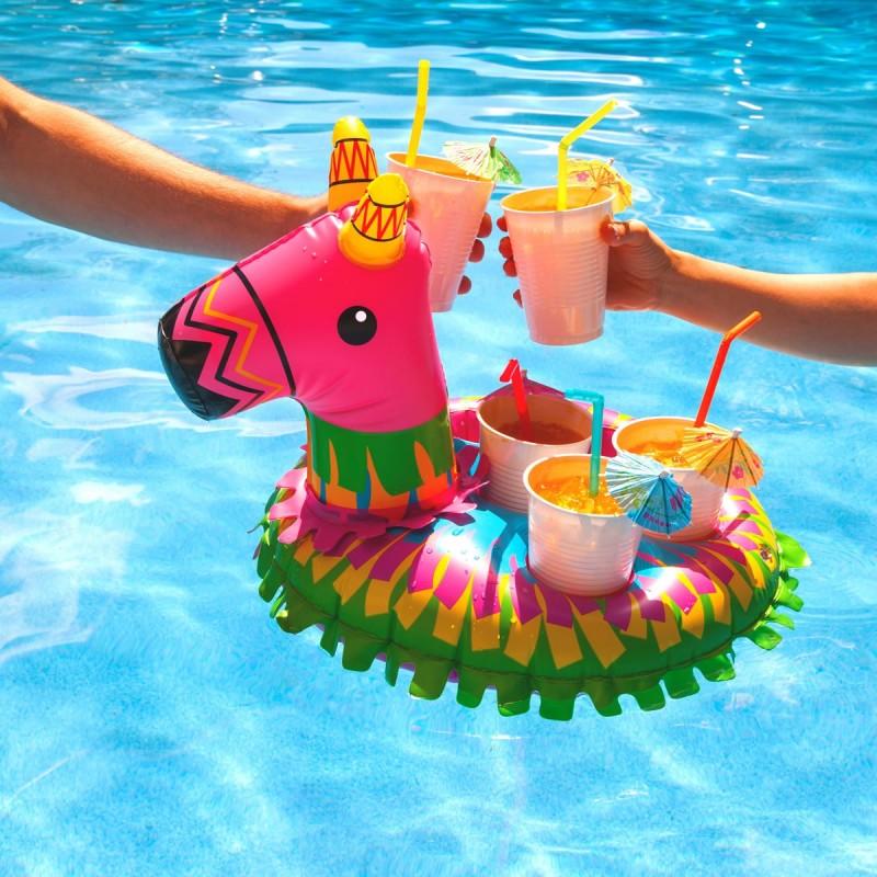 Pi ata da piscina porta bevande for Gadget da piscina