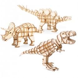 Dinosauri di legno da montare