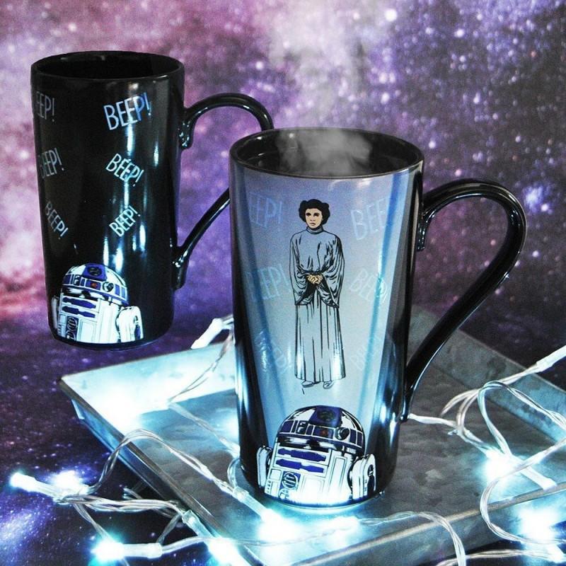 Latte Mug termosensibile R2-D2 e Leila