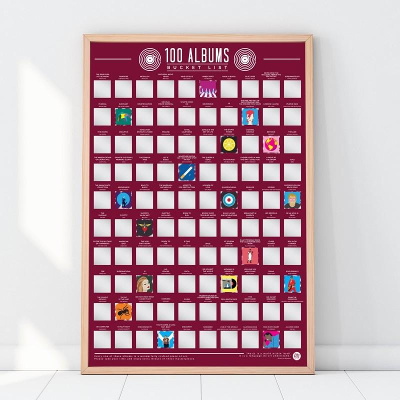Poster 100 album da ascoltare