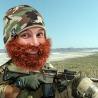 Cappello con Barba cespugliosa mimetico