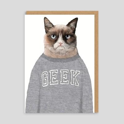Biglietto di auguri Grumpy Cat