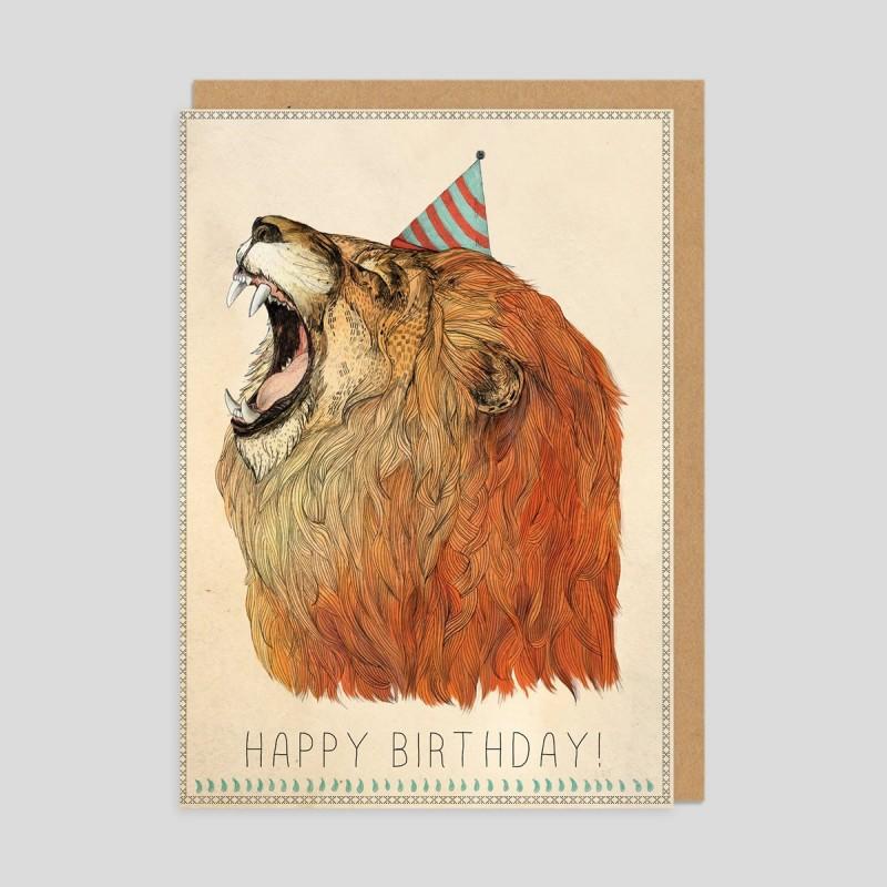 Biglietto di auguri Compleanno da leoni