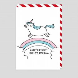 Biglietto di auguri Compleanno magico Unicorno