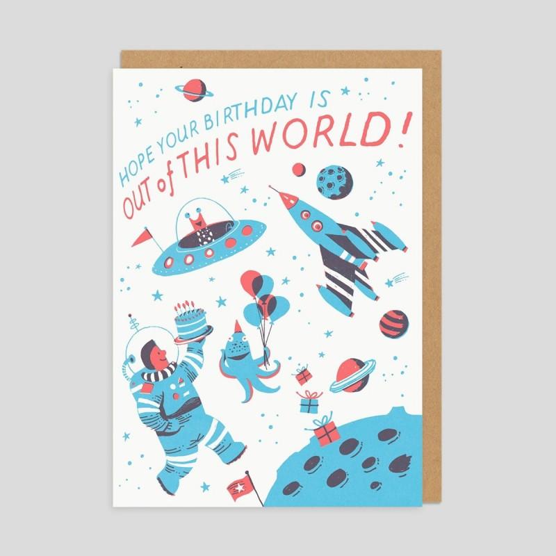 Biglietto di auguri Compleanno spaziale