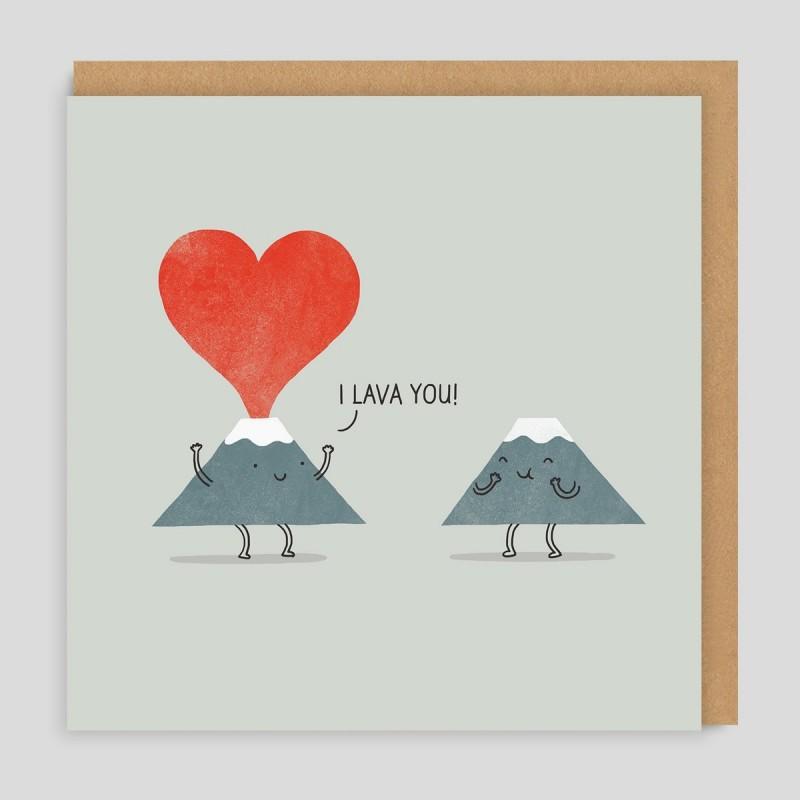 Biglietto di auguri Vulcani romantici