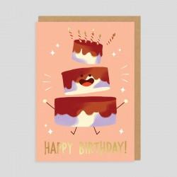 Biglietto di auguri Torta di compleanno